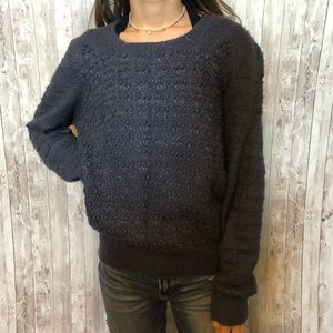 Gorgeous 100% silk hand knitted sweater